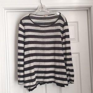 Eileen Fisher linen stripe sweater